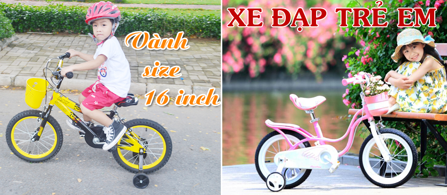 Xe đạp trẻ em 4,5,6,7 tuổi size 16 inch