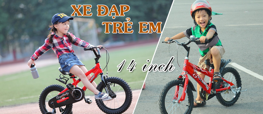 Xe đạp trẻ em 3,4,5 tuổi size 14 inch