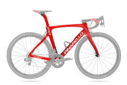 Khung Pinarello F10 166 Shiny Red/Matt Carbon