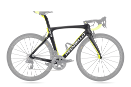 Khung Pinarello F10 168 Matt Carbon/Shiny Fluo Yellow