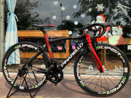 Xe đạp đua Pinarello DogMa 167 F10 5800 Supper Team Full Carbon Black Red