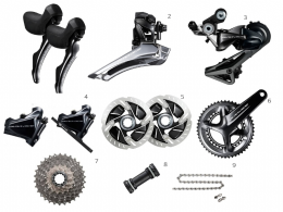 Shimano Groupset Dura Ace R9120 Hydraulic Disc Brakes