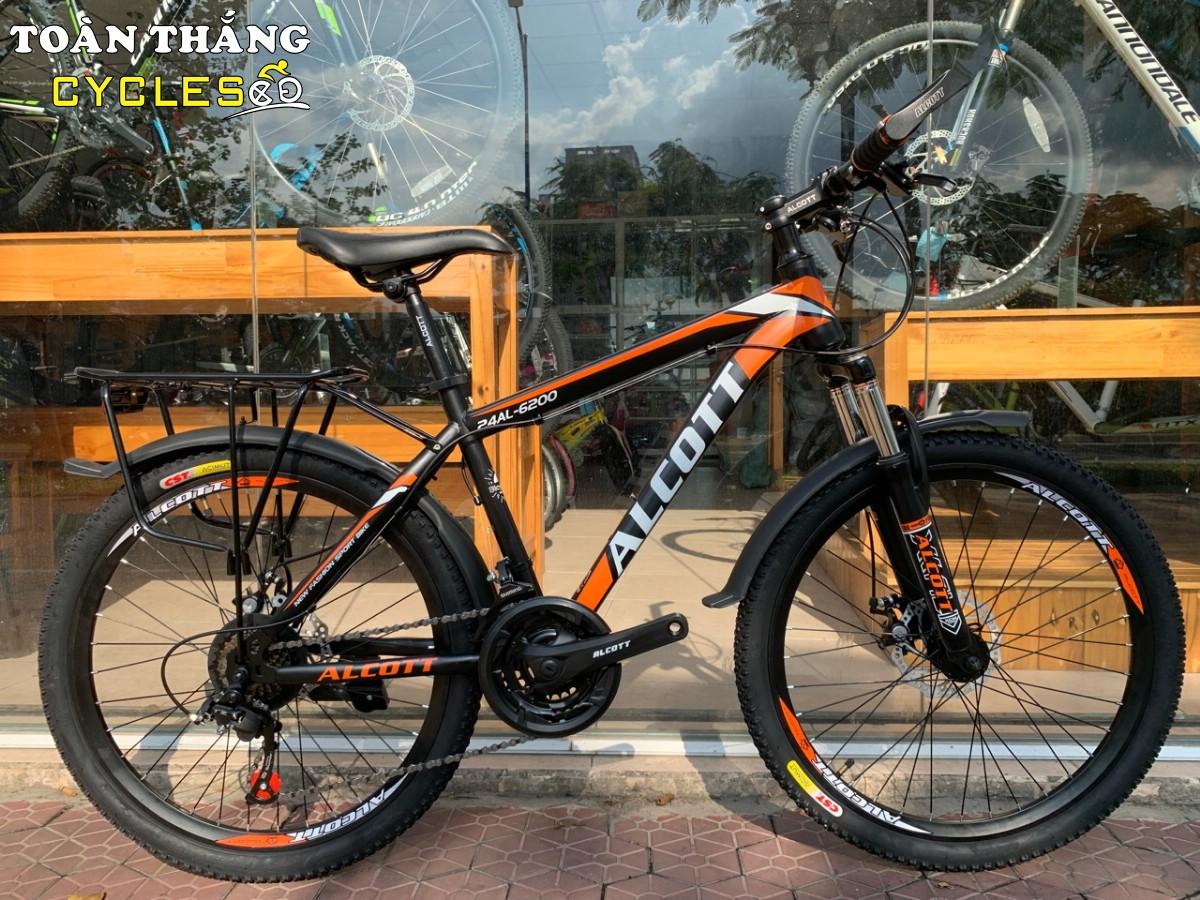 Xe đạp địa hình Alcott 24AL-6200 Black Orange