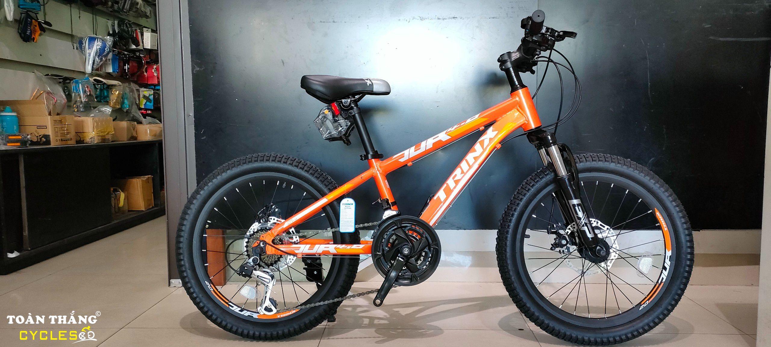 Xe đạp trẻ em TrinX Junior 4.0 2021 Orange Yellow White