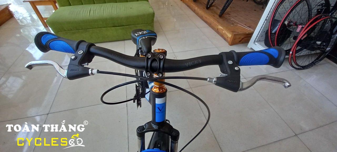 Xe đạp trẻ em Vicky Boy 18 Black Black Blue